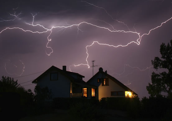 Home in Storm